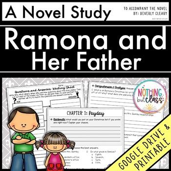 Ramona and her Father Novel Study Unit