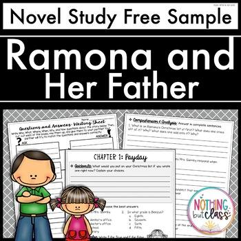 Ramona and her Father Novel Study Unit: FREE Sample