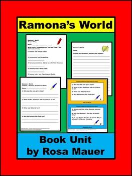 Ramona's World Book Unit