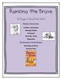 Ramona the Brave Literature Unit Plus Extension Activities
