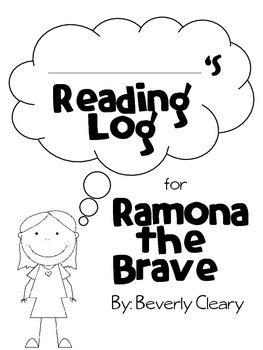 Literacy: Ramona the Brave Reading Log