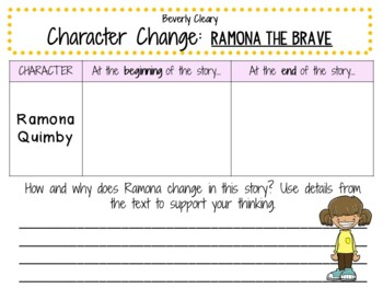 Ramona the Brave by Beverly Cleary: A Complete Novel Study!