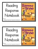 Ramona the Brave, by: Beverly Cleary- Reading Response Notebook