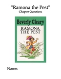 """""""Ramona the Pest"""" Chapter and Comprehension Questions"""