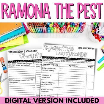 Ramona the Pest Novel Study