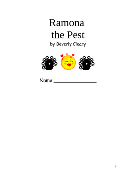 Ramona the Pest Beverly Cleary Novel Study Packet