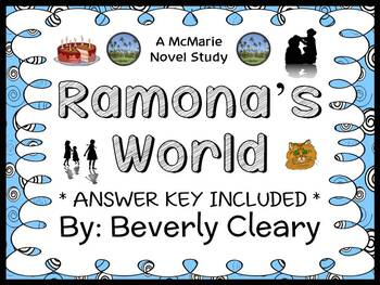 Ramona's World (Beverly Cleary) Novel Study / Reading Comprehension