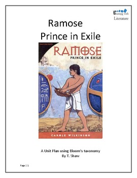 Ramose Prince in Exile (Unit plans for the series of 4 books)