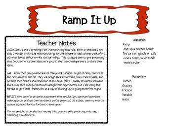 Ramp It UP -  LAB gravity, friction, mass -
