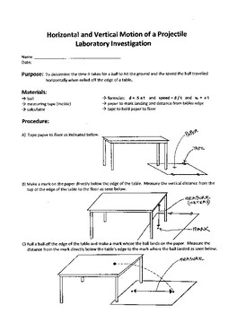 Motion of Object Lab
