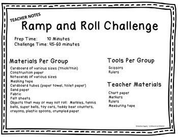 Ramp and Roll STEM Challenge (FULL)