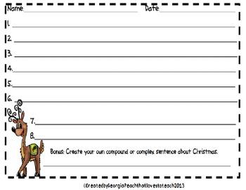 """Ramp it up"" Christmas Sentence Writing"