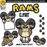 Ram Clip Art | Bighorn Sheep Clipart {Squishies Clipart}