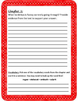 Randi Rhodes Ninja Detective - Comprehension Questions