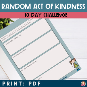 Random Act of Kindness Activity Bundle with Printables Powerpoint  and QR Codes