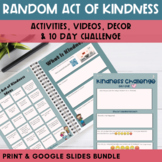 Random Act of Kindness Activity Packet - Print and Digital