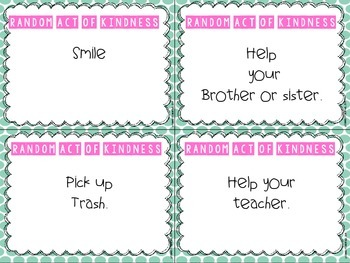 Random Act of Kindness Guide for Back To School