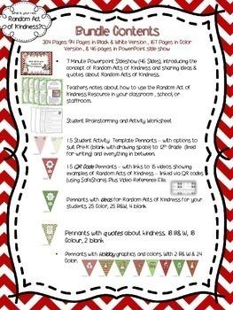 Random Act of Kindness Holiday Activity Bundle {Christmas, Chanukah, Kwanzaa}