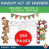 Random Act of Kindness Holiday Activity Bundle {Christmas,