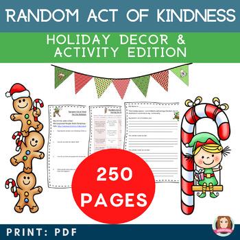 Random Act of Kindness Holiday Activity Bundle {Christmas,