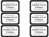 Random Act of Kindness Notes