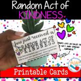 Random Act of Kindness: Printable Cards