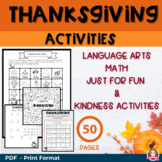 Thanksgiving Activities | Thanksgiving Random Acts of Kind