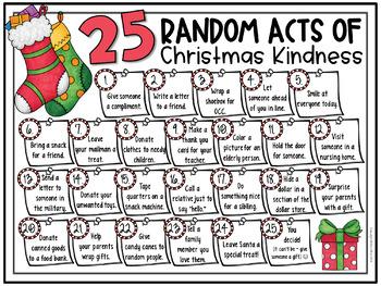 Random Acts of Christmas Kindness Calendar