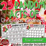 Christmas Activities: FREE Random Acts of Christmas Kindness Calendar