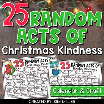 Random Acts of Christmas Kindness & Stocking Stuffer Craft Activity