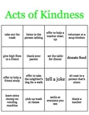Random Acts of Kindness BINGO game SALE