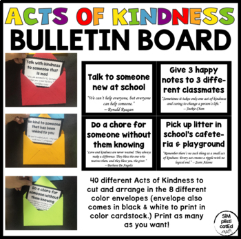 Random Acts of Kindness Bulletin Board - Be Kind to One Another!