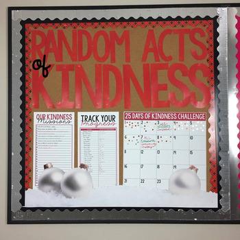Classroom Community Random Acts of Kindness Bulletin Board: FREE