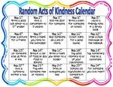 Random Acts of Kindness Calendar (Editable)