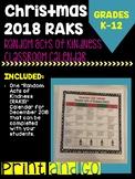 Random Acts of Kindness Calendar for December 2018