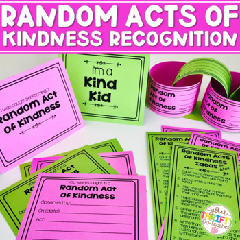 Random Acts of Kindness - Chain Desk Tents Pennant Banner Certificates Bookmarks