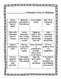 Random Acts of Kindness Choice Board