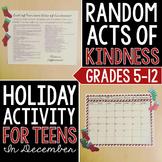 Random Acts of Kindness: Christmas Craftivity