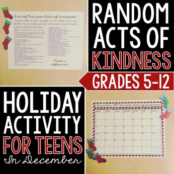 Random Acts of Kindness: Christmas Craftivity
