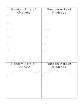 Random Acts of Kindness Forms