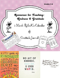 Random Acts of Kindness & Gratitude Journal Freebie