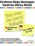 Random Acts of Kindness - Kindness Ninja Sticky Note Messages