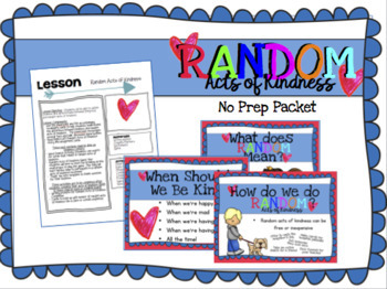 Random Acts of Kindness No Prep Packet