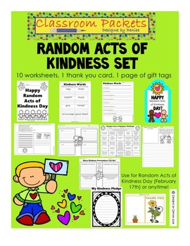 Random Acts of Kindness Packet