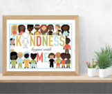 Random Acts of Kindness Poster, Bookmark, Commitment Cards, and Game Digital Pri