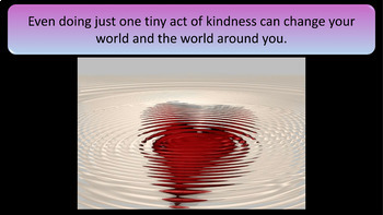 Random Acts of Kindness Presentation - 100 Slides -Powerful, Poignant, Humorous
