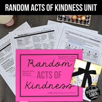 Random Acts of Kindness Project for Secondary ELA
