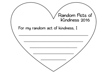Random Acts of Kindness:  RAK week heart