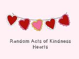 Random Acts of Kindness:  RAK week heart