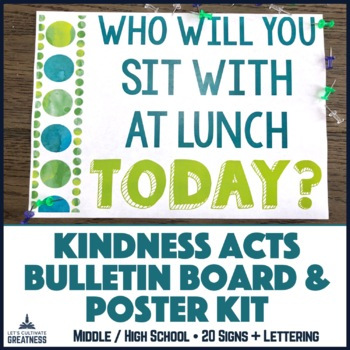 Random Acts of Kindness / Service Leadership Posters & Bulletin Board Challenge